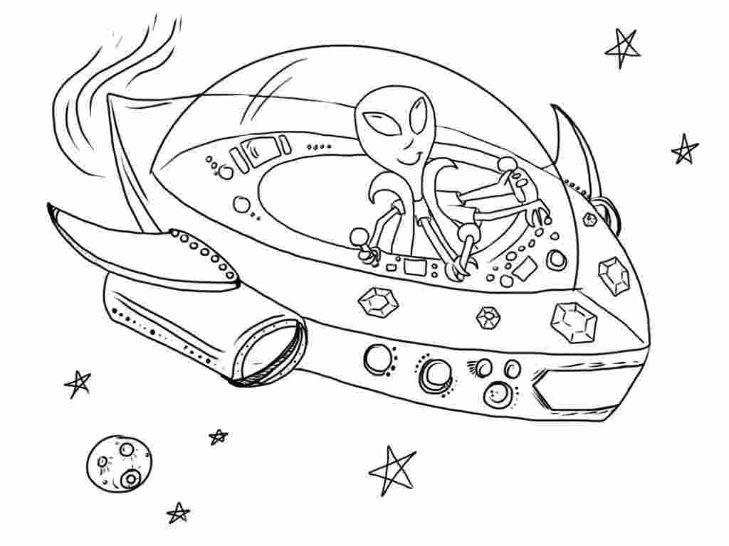 spaceship coloring pages free printable alien coloring pages for kids