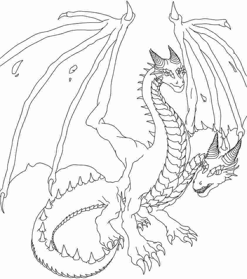 two headed dragon coloring pages two headed dragon lineart by lathrin on deviantart