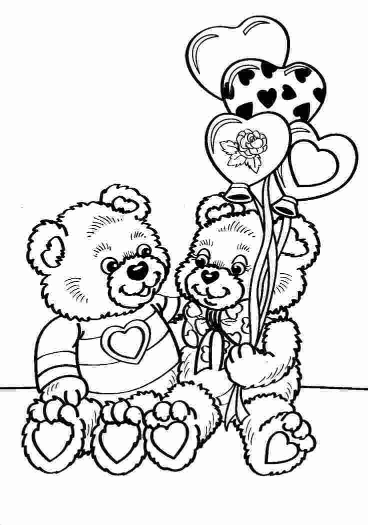 valentines coloring pictures 17 best images about coloringbears on pinterest animal