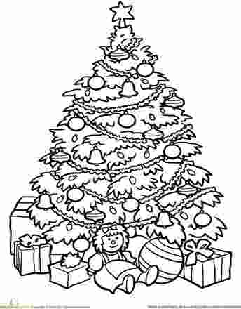 xmas tree pictures for colouring art worksheets christmas tree coloring page classroom