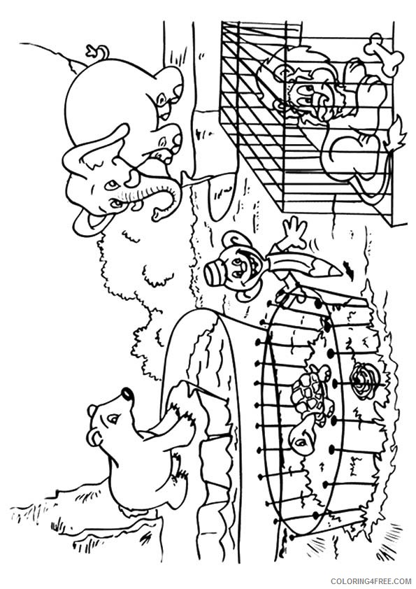 zoo coloring sheet free printable zoo coloring pages for kids zoo sheet coloring