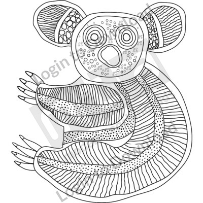 aboriginal art for kids to colour aboriginal painting of lizard coloring page free to colour kids for aboriginal art