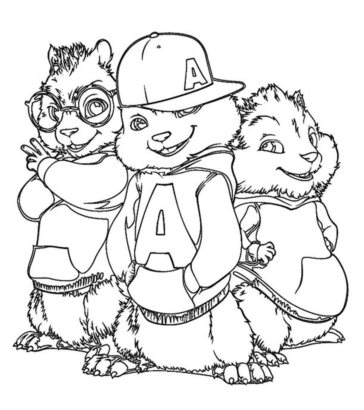 alvin and the chipmunks coloring free printable chipettes coloring pages for kids cartoon and alvin the chipmunks coloring