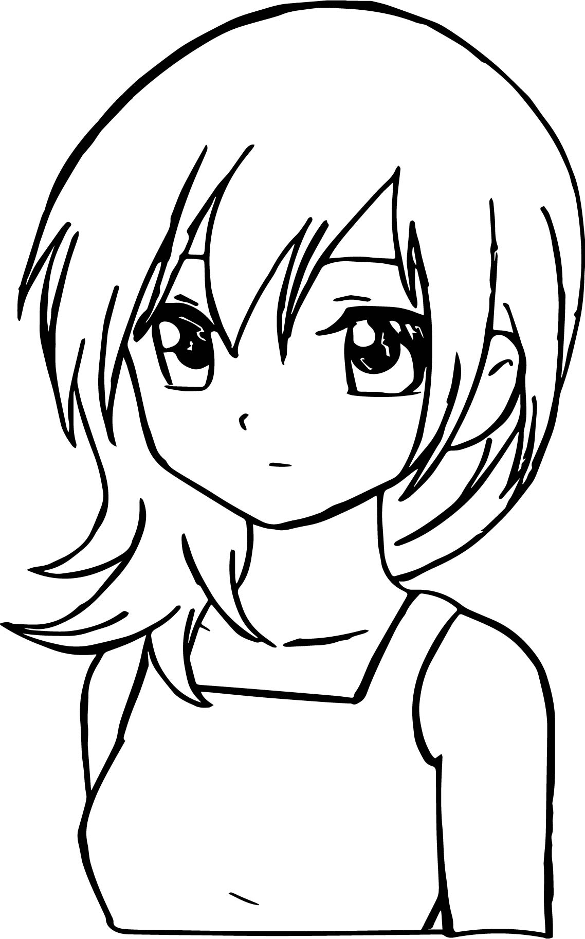 anime girl face coloring pages a anime face wiring diagram database girl coloring face pages anime