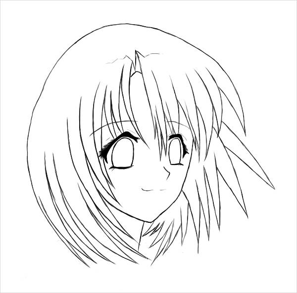 anime girl face coloring pages anime girl face coloring page wecoloringpagecom face coloring anime pages girl