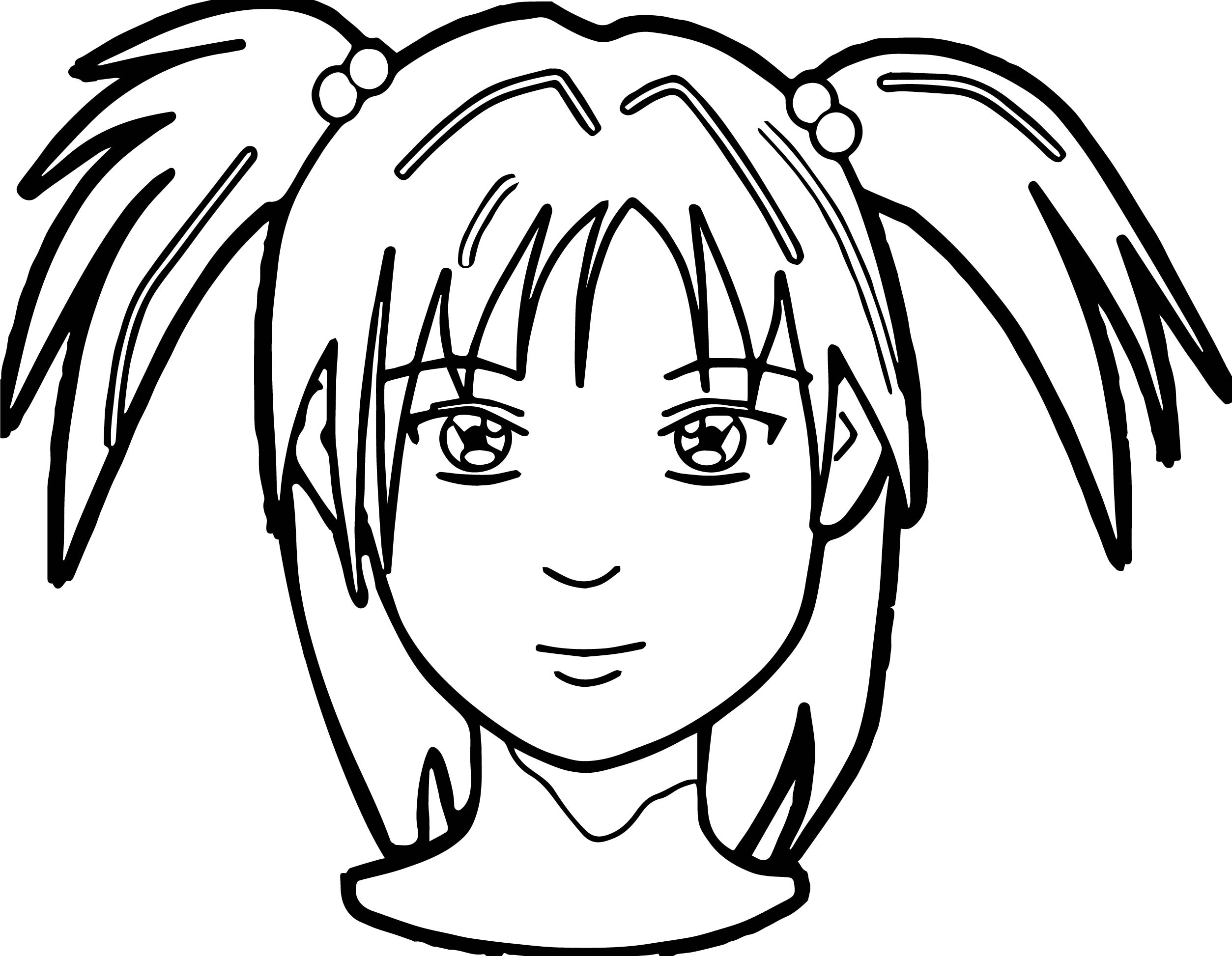 anime girl face coloring pages cute anime face girls coloring pages coloring home face girl anime coloring pages