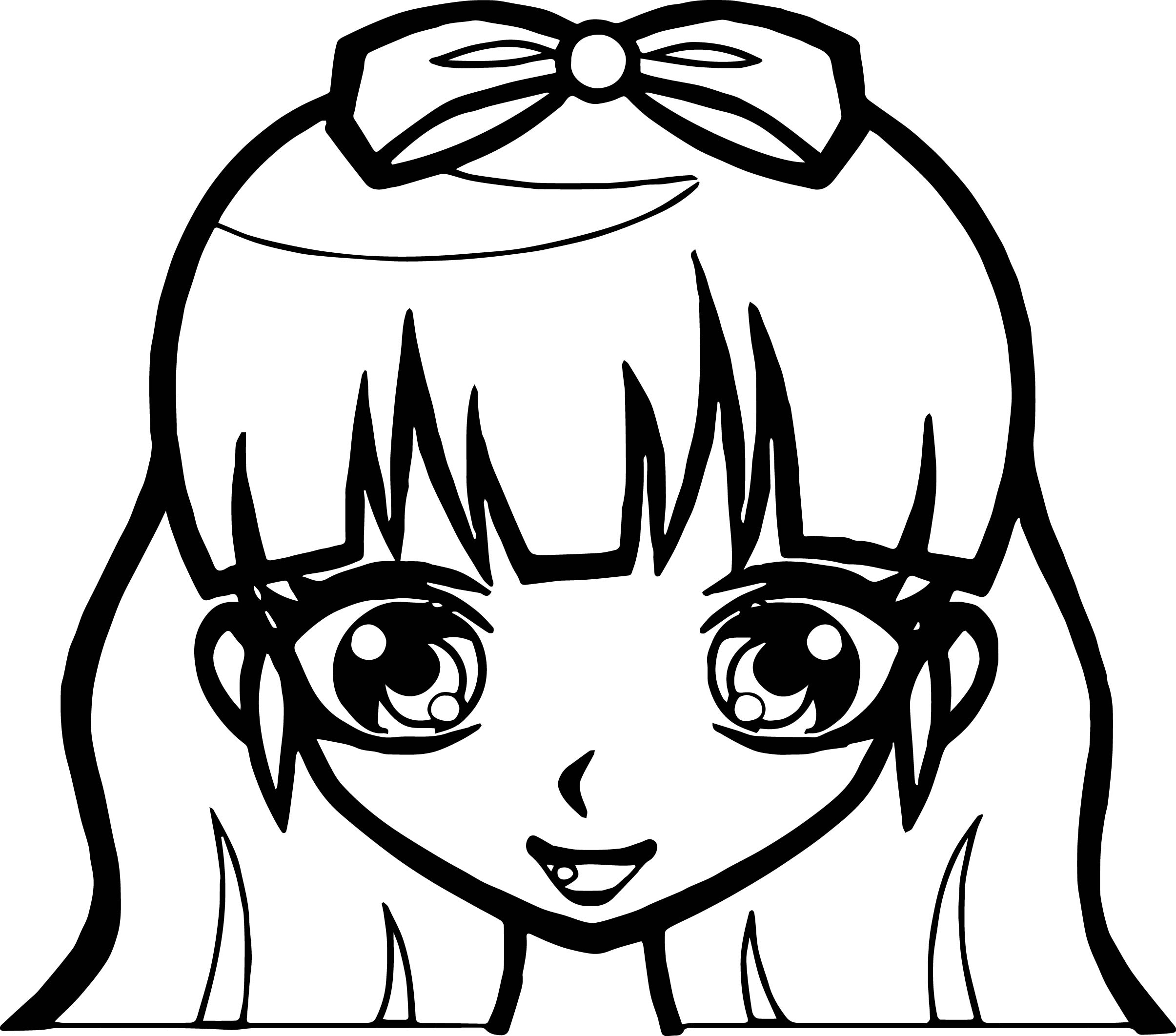 anime girl face coloring pages cute anime girl by chuloc on deviantart anime coloring face pages girl