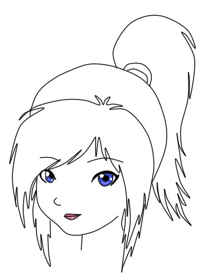anime girl face coloring pages manga cap via tumblr on we heart it girl pages coloring face anime