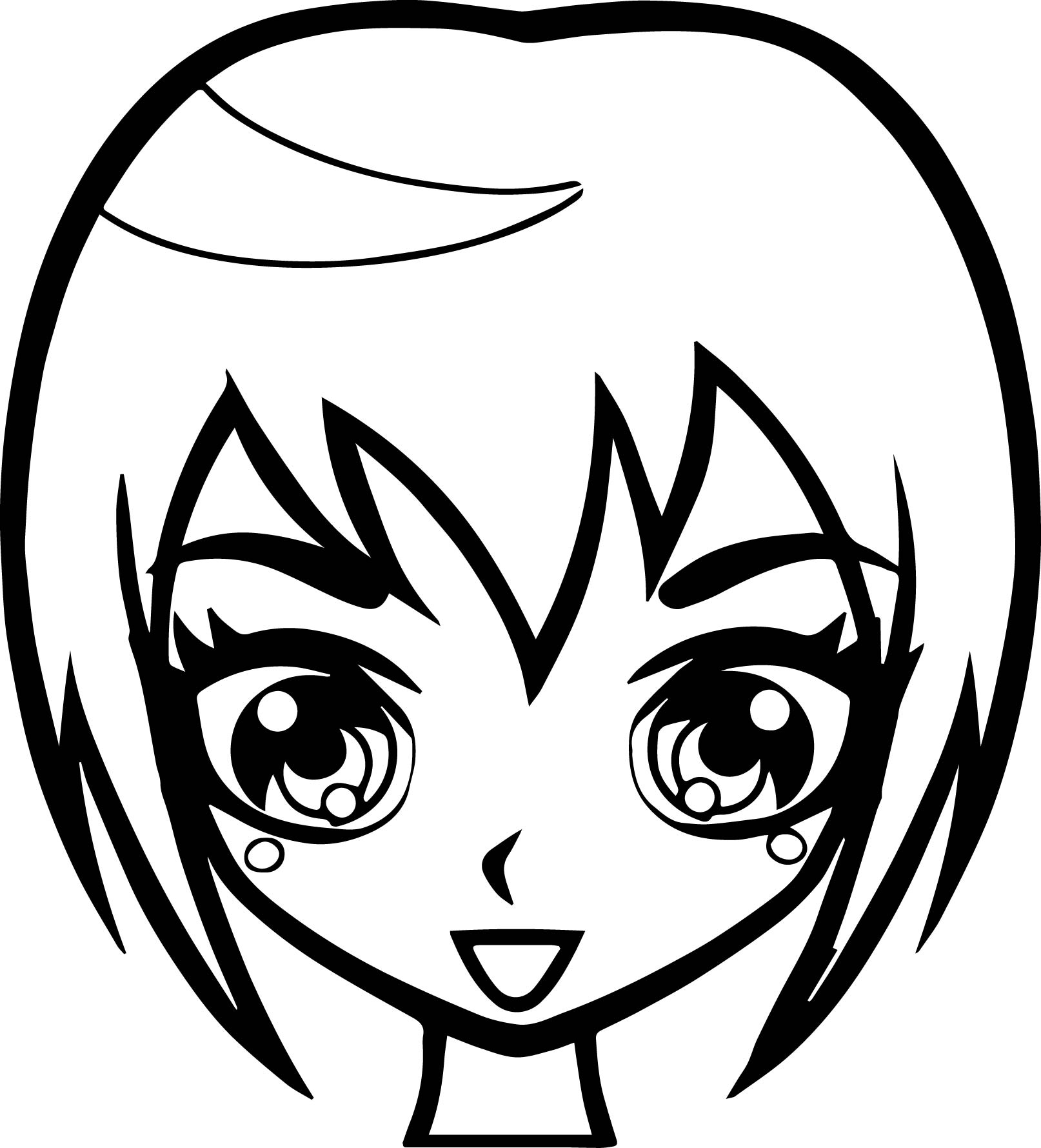 anime girl face coloring pages pin on anime anime girl face pages coloring