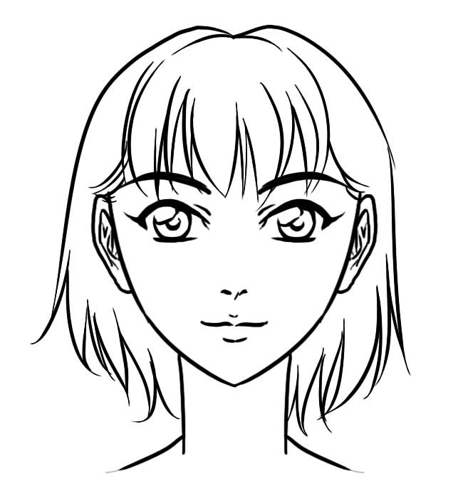 anime girl face coloring pages png girl anime coloring free girl anime coloringpng pages coloring face anime girl