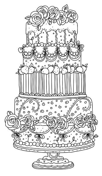 coloring cake pictures birthday cake and a lot of candy coloring pages kids fun coloring cake pictures