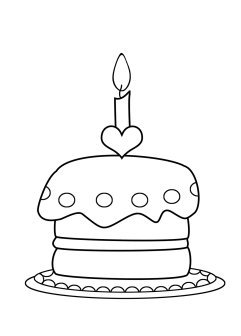 coloring cake pictures birthday cake candle coloring page wecoloringpagecom coloring pictures cake