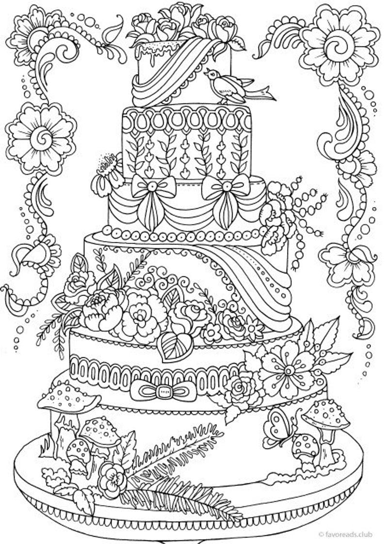 coloring cake pictures birthday cake coloring page crayolacom pictures cake coloring