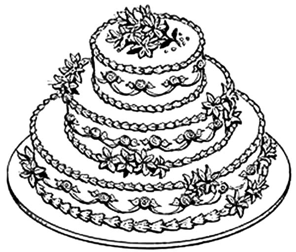 coloring cake pictures birthday cake coloring pages getcoloringpagescom cake pictures coloring