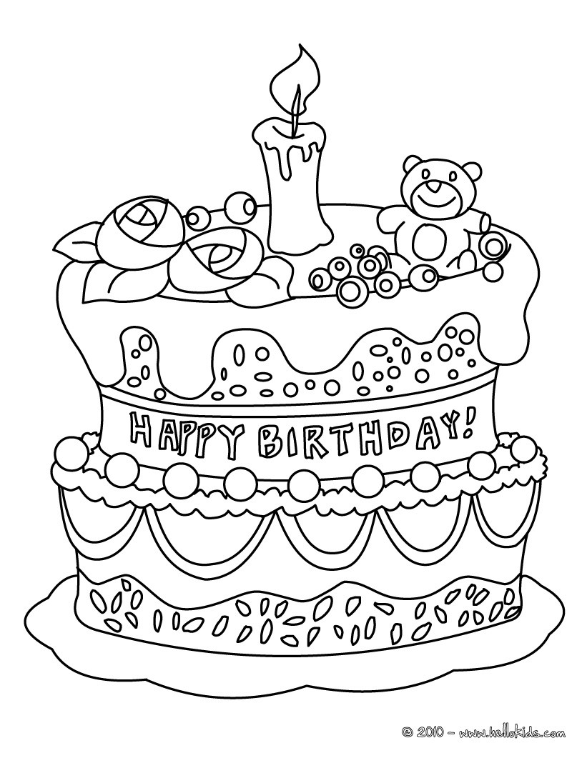 coloring cake pictures birthday coloring pages coloring pictures cake