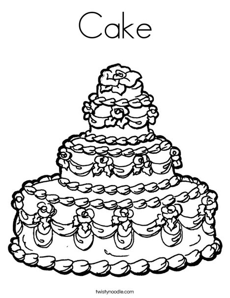coloring cake pictures cake coloring pages getcoloringpagescom cake coloring pictures