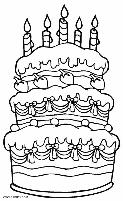 coloring cake pictures free printable birthday cake coloring pages for kids cake coloring pictures 1 2