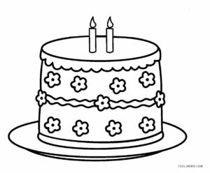 coloring cake pictures free printable birthday cake coloring pages for kids cake pictures coloring
