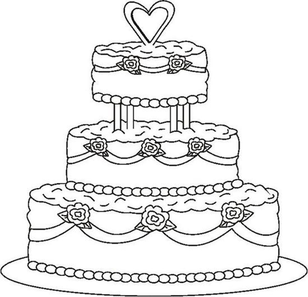 coloring cake pictures free printable birthday cake coloring pages for kids coloring cake pictures