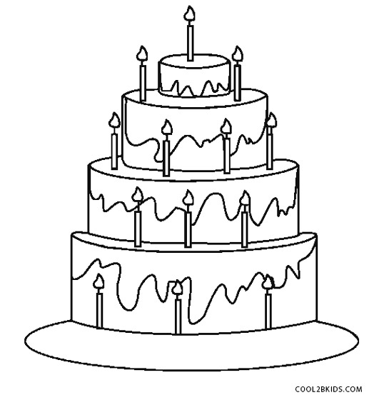 coloring cake pictures free printable birthday cake coloring pages for kids pictures cake coloring