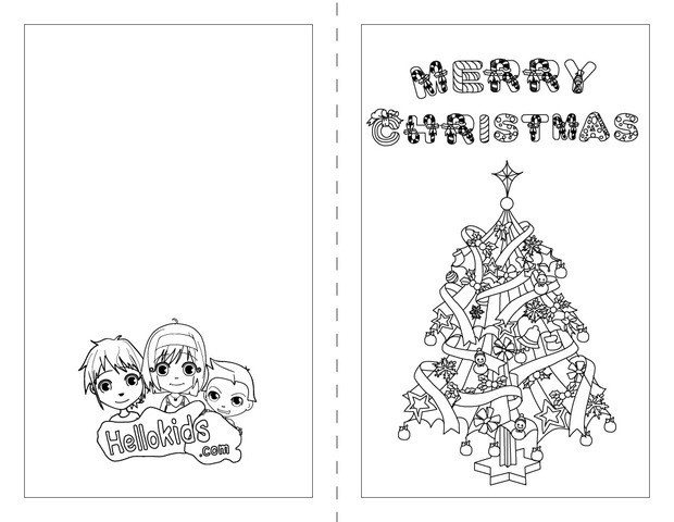 coloring christmas cards for kids christmas card coloring pages free coloring home kids coloring christmas cards for