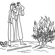 coloring moses and burning bush image result for black and white images of moses and the burning bush coloring and moses