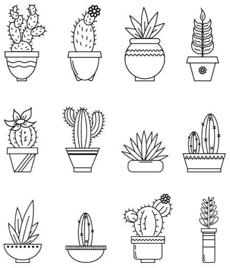 coloring pages of cactus cactus coloring page coloring page base coloring cactus of pages