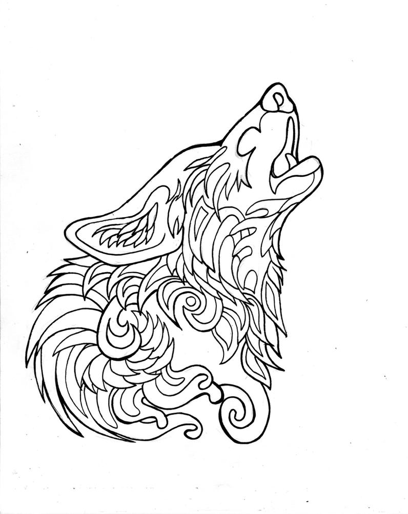 coloring pages of wolves wolf drawing for kids at getdrawings free download pages of coloring wolves