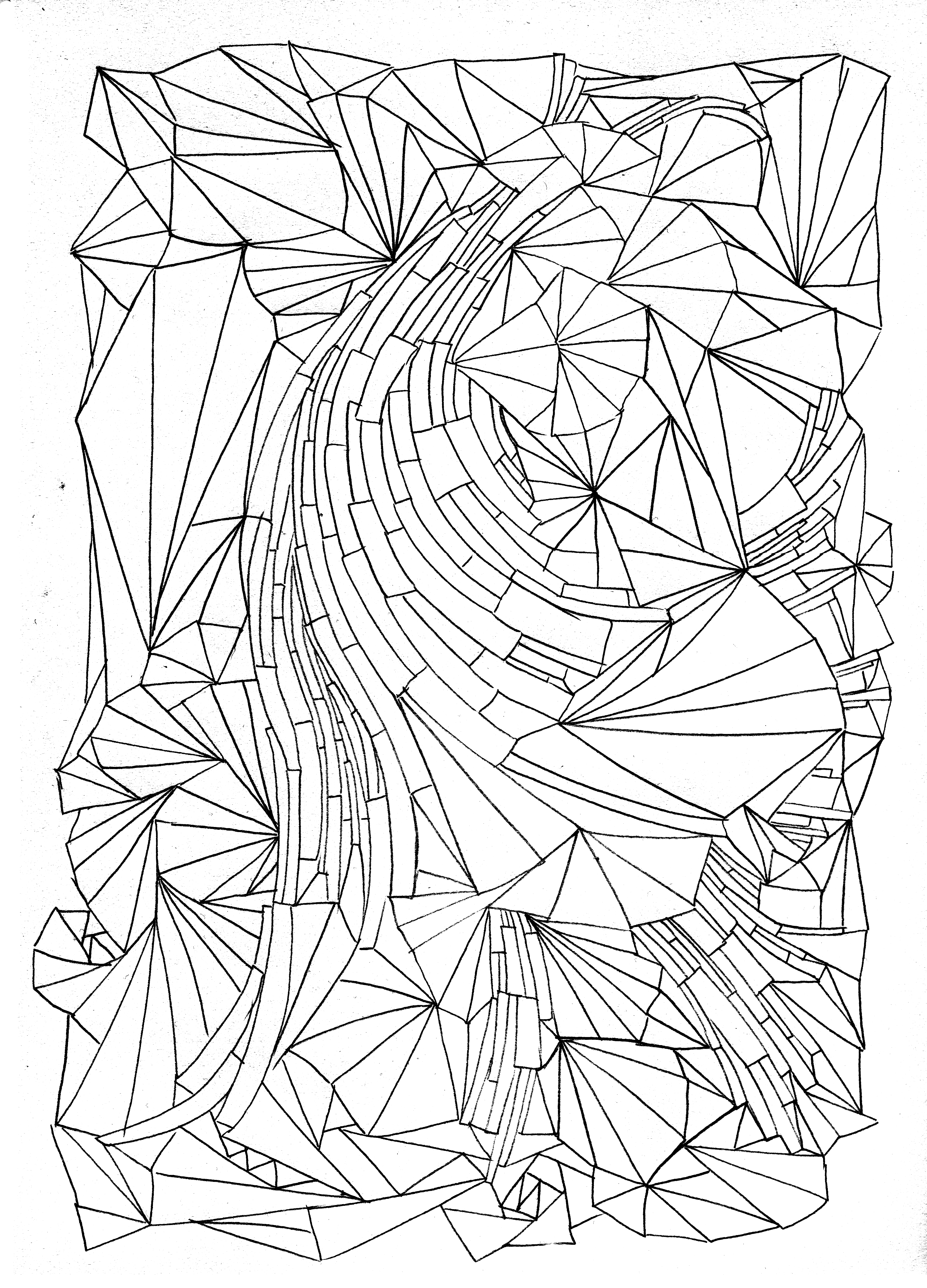 colouring patterns printables free coloring page coloring adult triangles traits anti patterns colouring printables