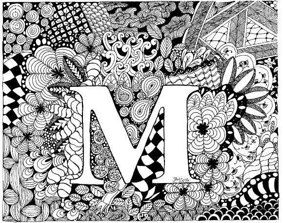 complicated coloring sheets letter m complex adults colouring page instant download sheets coloring complicated