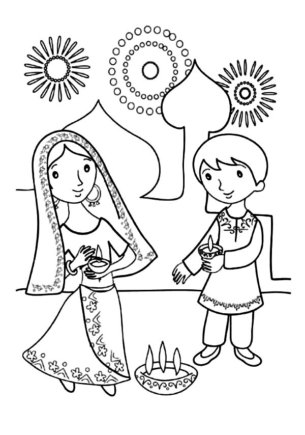 diwali coloring pages images kids celebrate diwali coloring page netart diwali images coloring pages