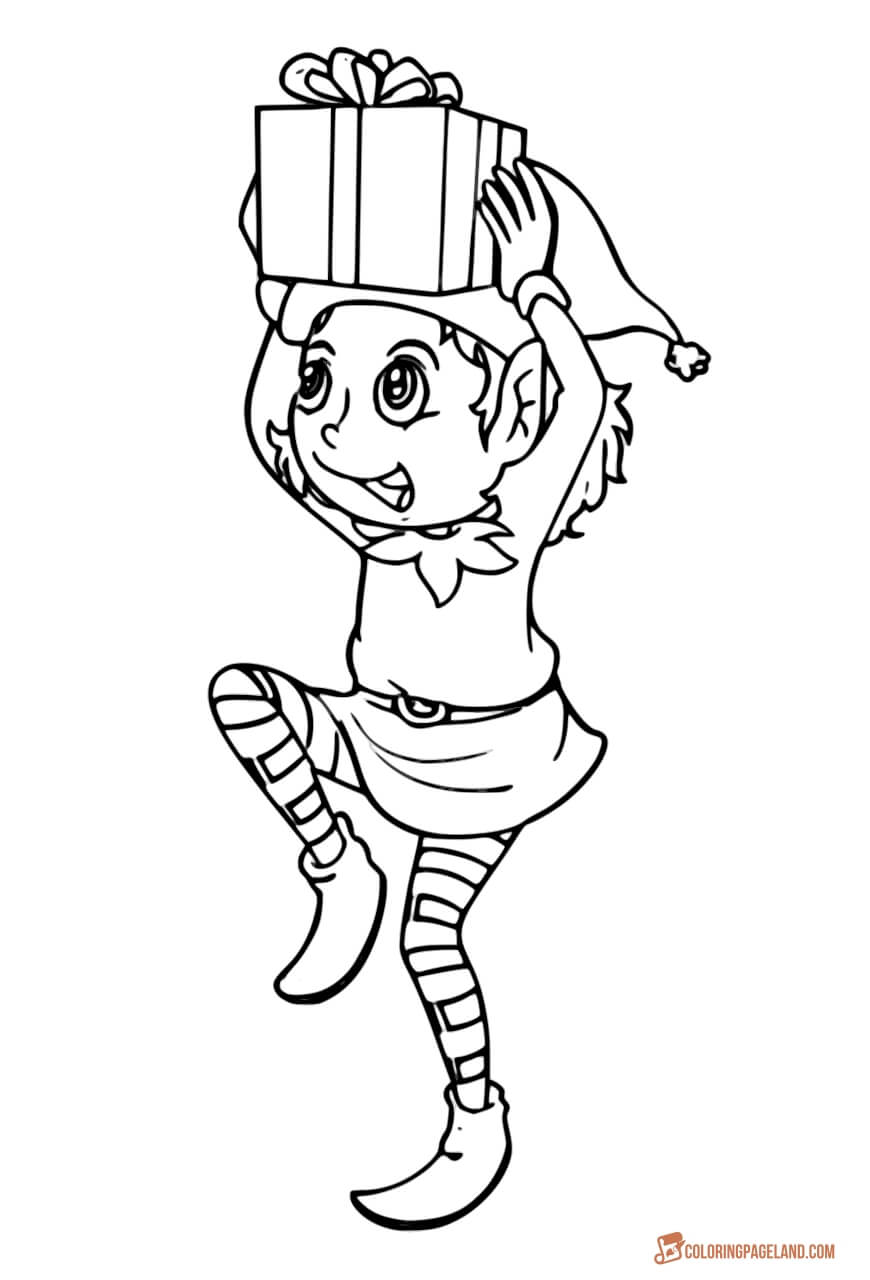 elf christmas coloring pages elves coloring pages coloring christmas elf pages