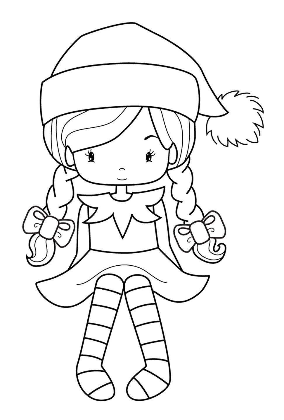 elf christmas coloring pages elveswatchinggirljpg 9721434 christmas printables pages elf coloring christmas