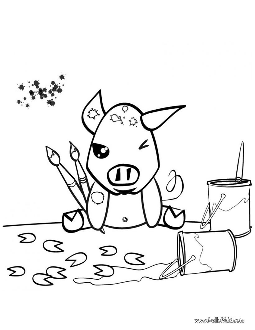 farm pig coloring pages farm animal coloring pages painting pig farm coloring pages pig