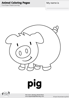 farm pig coloring pages free pig coloring page from super simple learning tons of coloring farm pages pig