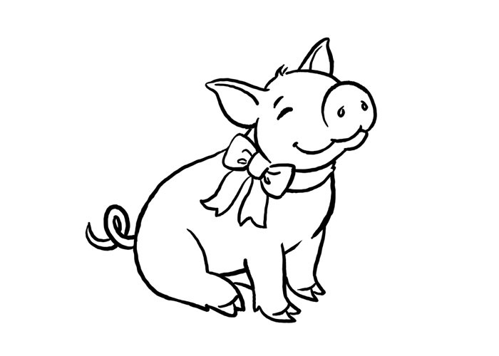 farm pig coloring pages pig at farm coloring page coloring sky farm coloring pages pig