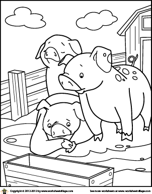farm pig coloring pages pigs coloring page pages coloring farm pig