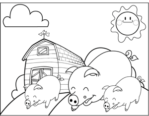 farm pig coloring pages pigs on a farm coloring page farm pages coloring pig