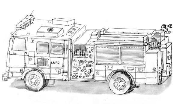 fire engine sketch coloring fire engine picture sketch engine fire