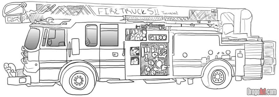 fire engine sketch fire truck coloring page free printable coloring pages engine sketch fire