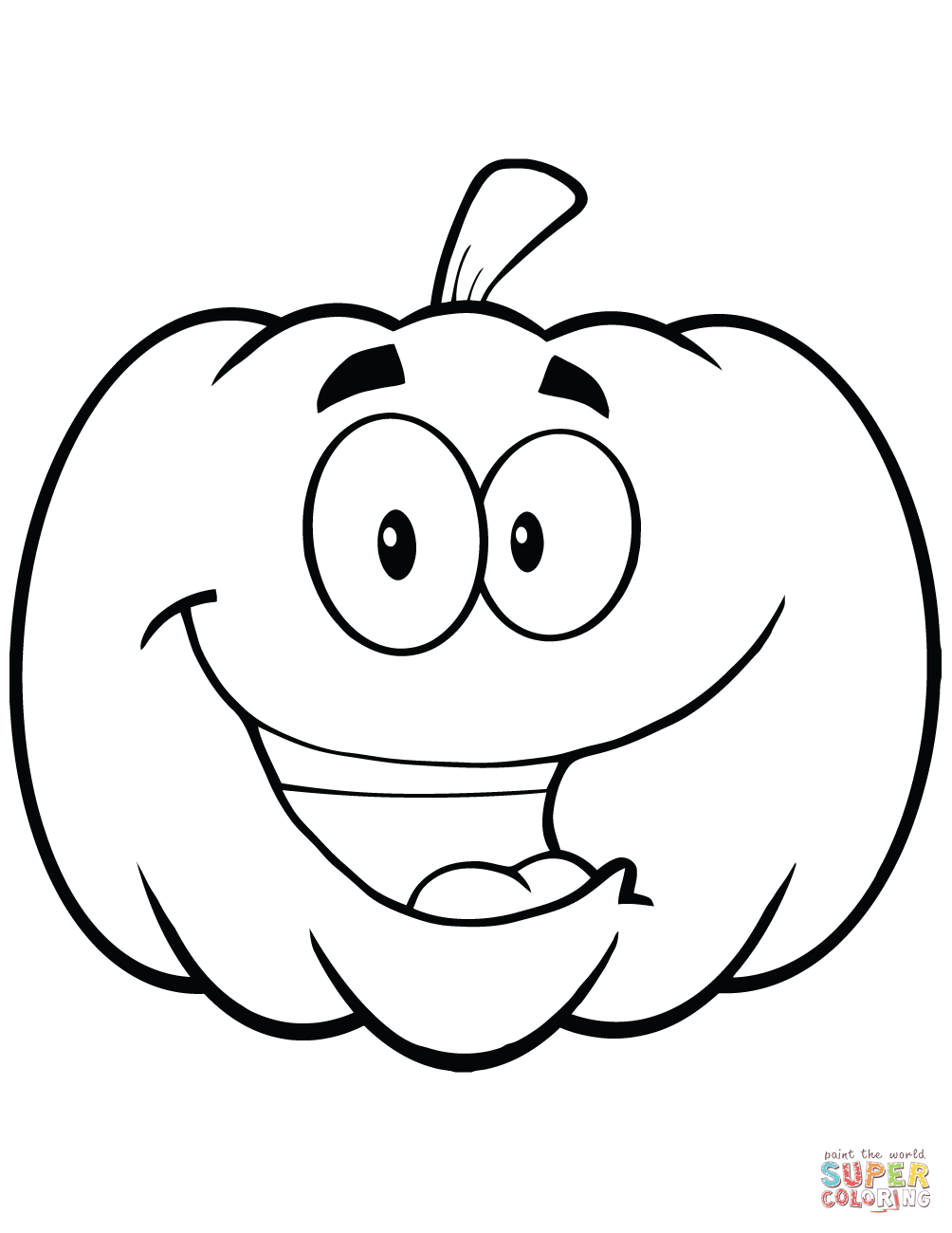 halloween pictures to color pumpkin pumpkin cartoon drawing at getdrawingscom free for pictures pumpkin halloween to color