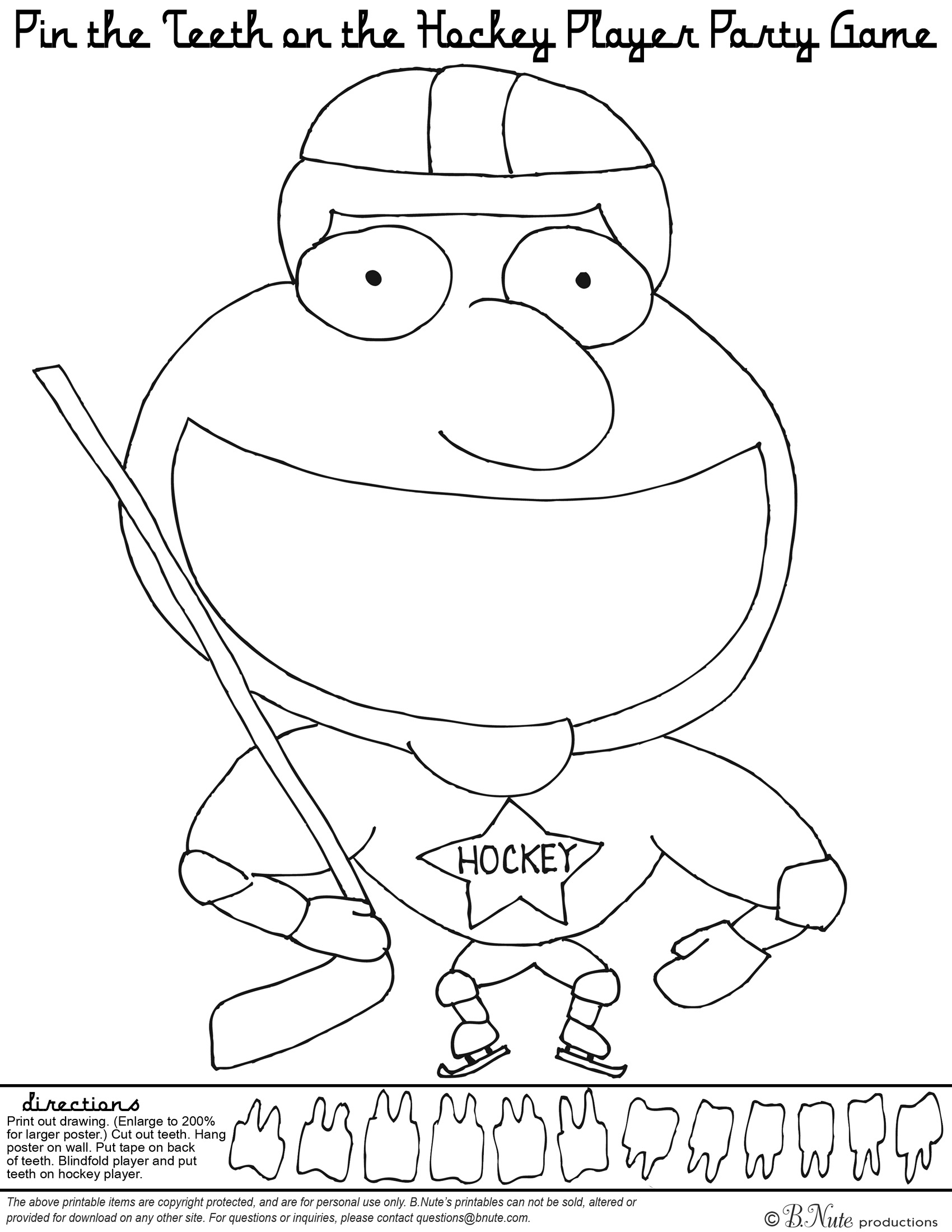 hockey pictures to color bnute productions free printable hockey party game and hockey color pictures to