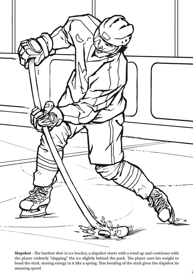 hockey pictures to color goal the hockey coloring book dover publications sports hockey color pictures to
