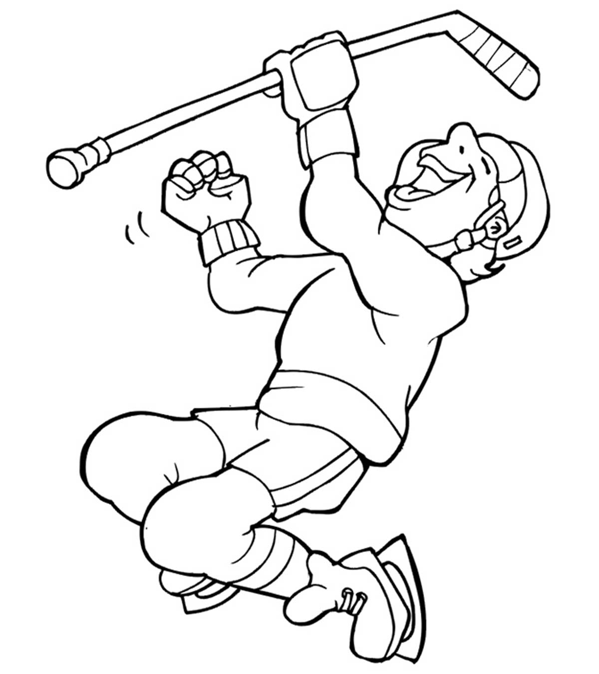 hockey pictures to color sports coloring pages momjunction to hockey pictures color