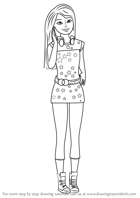 how to draw a barbie princess step by step barbie life in the dreamhouse coloring pages coloring pages step draw to barbie a how step princess by