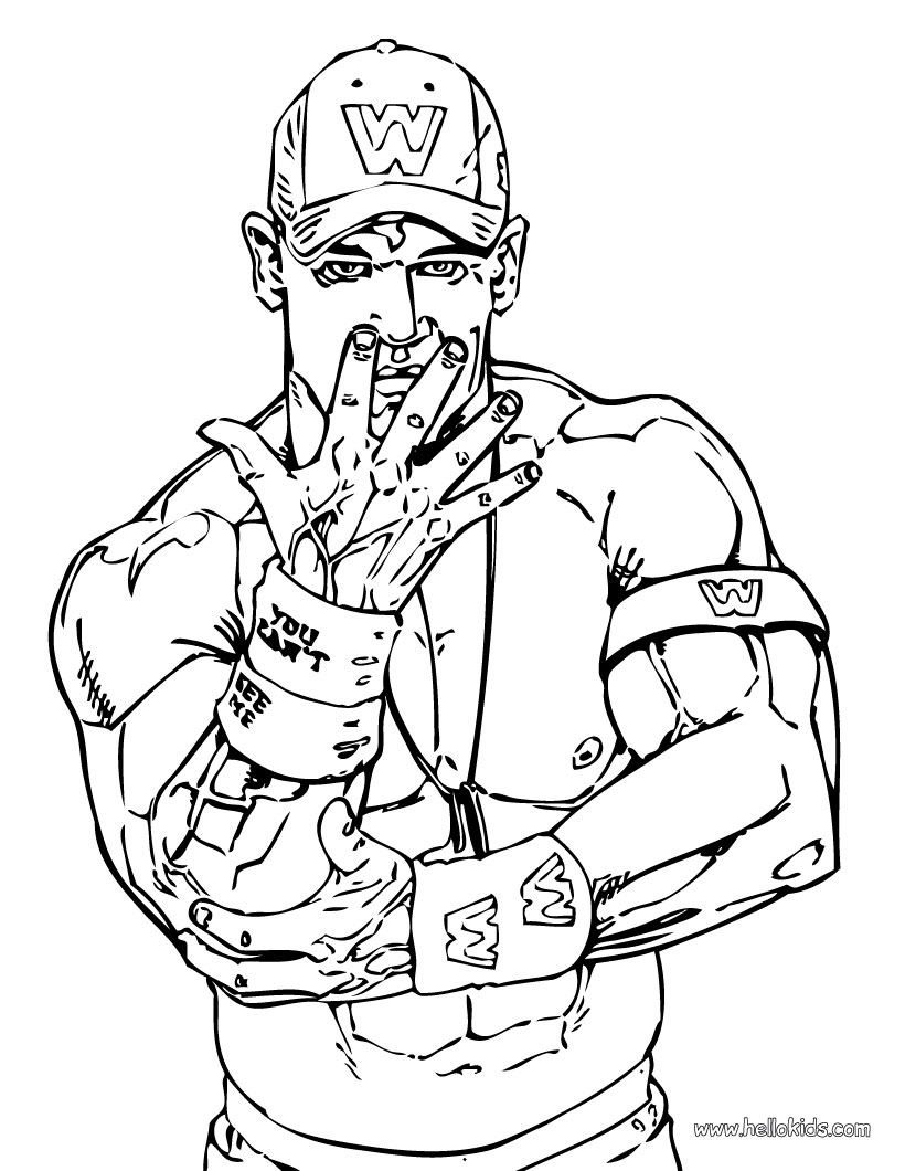 john cena wwe coloring pages wwe coloring pages john cena at getdrawings free download cena pages john coloring wwe