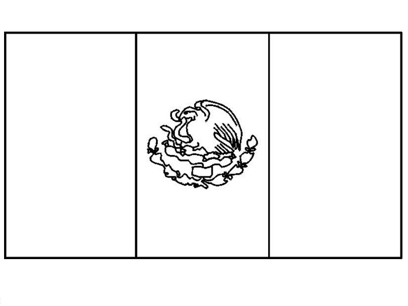 mexican flag outline mexico coloring pages getcoloringpagescom mexican flag outline