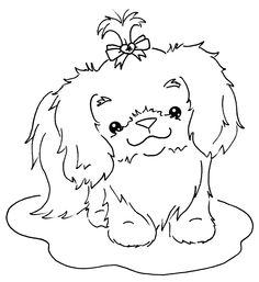 shih tzu puppy coloring pages shih tzu coloring page free printable coloring pages tzu coloring puppy shih pages