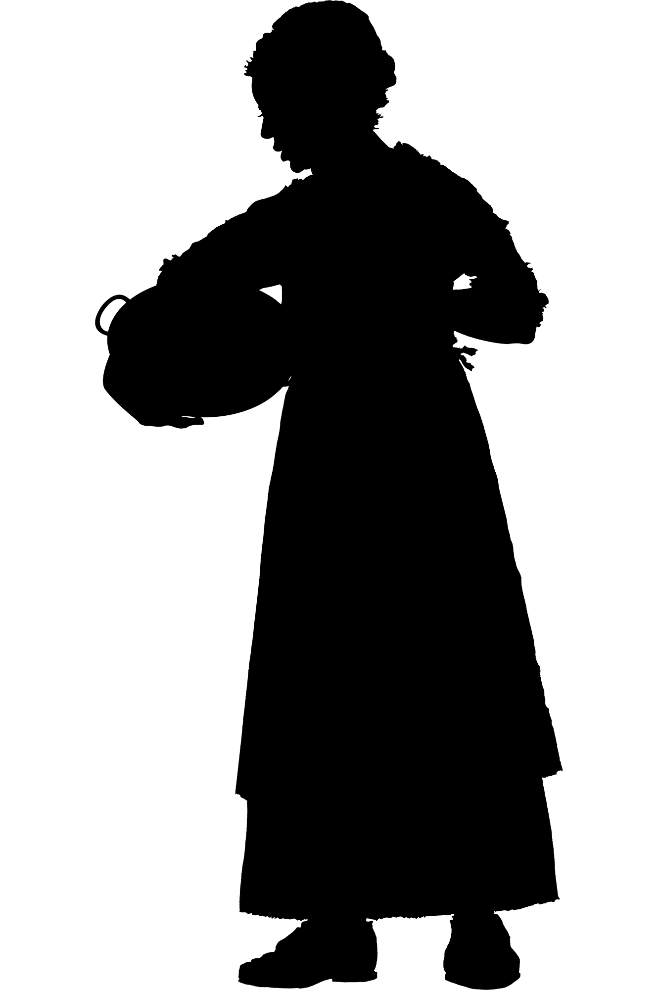 slave silhouette enslaved people at mount vernon george washington39s silhouette slave 1 4