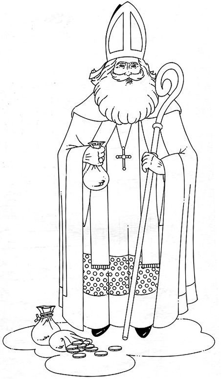 st nicholas coloring page celebrating the feast of st nicholas page st coloring nicholas